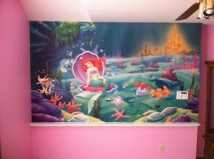 Choosing Interior Paint Colors – 365 Renovations – West Chester Township, OH – Childs room painting with little mermaid theme