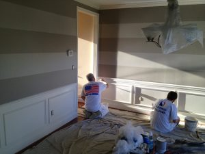 Interior Painters – 365 Renovations – Montgomery, OH – White Wainscoat Painting 800