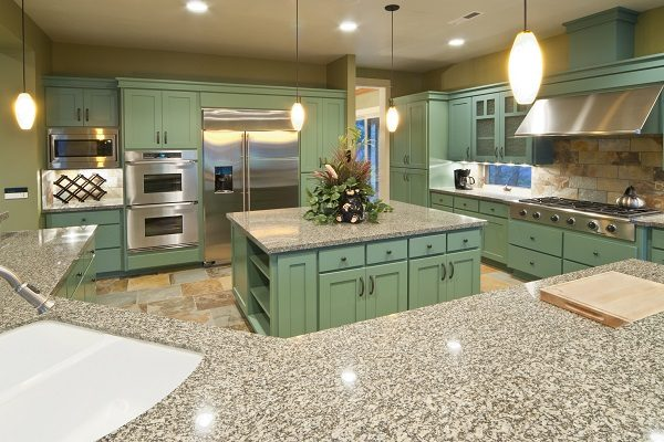 Kitchen Remodel Makeover - Green Cabinets - West Chester Twp OH - 365 Renovations