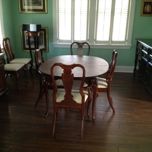Painting Contractor – 365 Renovations – West Chester Township, OH – Install sugar maple hardwood floor paint walls green and white trim 800