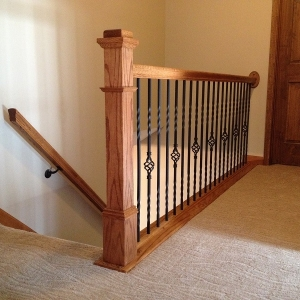 Painting Contractors – 365 Renovations – Montgomery, OH – Stairway Railing Stain 800