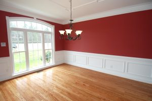 Interior House Painters - Red Walls, White Crown Molding - Cincinnati OH - 365 Renovations