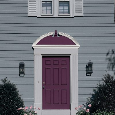 Blackberry Purple Front Door Painting