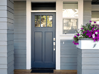 Exterior Paint Color Schemes - Gray Blue with White Trim - 365 Renovations - Blue Ash, OH