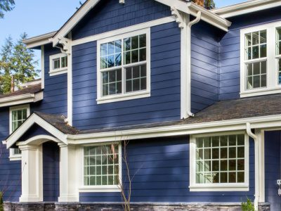 Blue House White Trim - Exterior Paint Color Schemes - West Chester OH 400