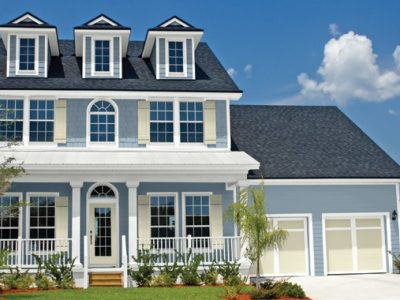 Blue White Ivory Exterior Paint Color Schemes - West Chester OH