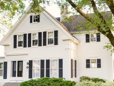Classic White House with Black Trim - Exterior Painters in West Chester OH