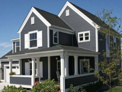 Dark Gray House with White Trim - Exterior Painters in West Chester OH 400