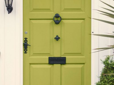 Lime Green Front Door - Bold Exterior Paint Color Schemes 400