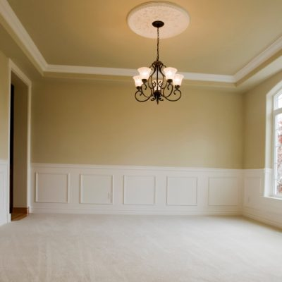 Crown Molding - Interior Carpentry Services - Dining Room Beige with White Trim - West Chester OH 1350